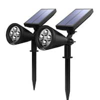 Solar-powered Outdoor Wall Security Lighting (Pack of 2)