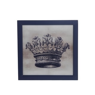Privilge International Crown Grey Wood Wall Decor