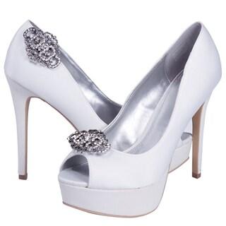 Women's 0001 Rhinestone Clip-on Shoe Buckles (Set of 2)