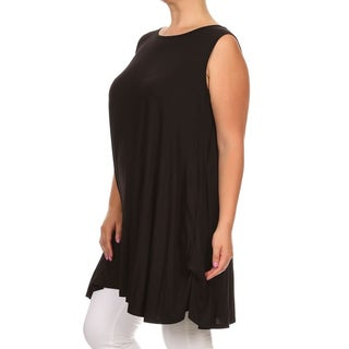 MOA Collection Women's Plus Size Relaxed-fit Sleeveless Top