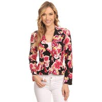 MOA Collection Women's Floral Blazer-style Jacket