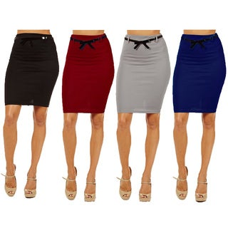 Dinamit Women's High-waist Pencil Skirt (Pack of 4)