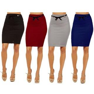 Dinamit Women's High-waist Pencil Skirt (Pack of 4)