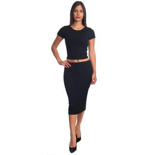 Special One Women's Bodycon Crop Top and Miniskirt Set