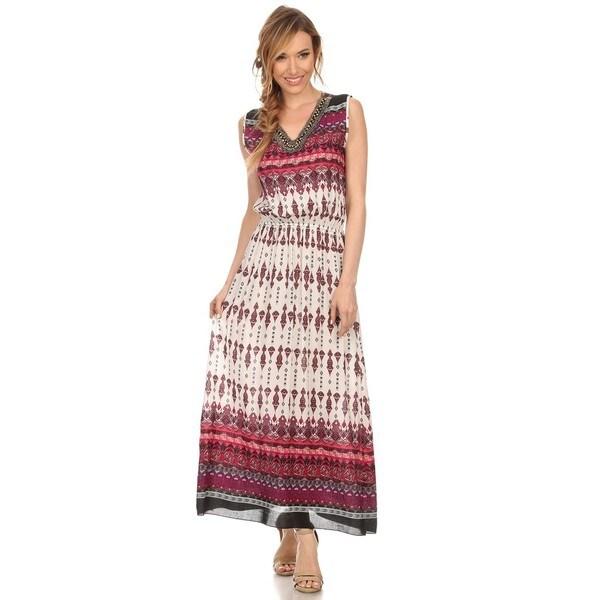 4d2c8fb09e5153 High Secret Women  x27 s Multicolored Geometric-print Cotton Polyester  Sleeveless V