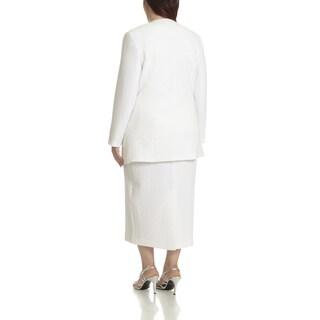 Giovanna Signature Women's Plus-size Textured Three-piece Skirt Suit