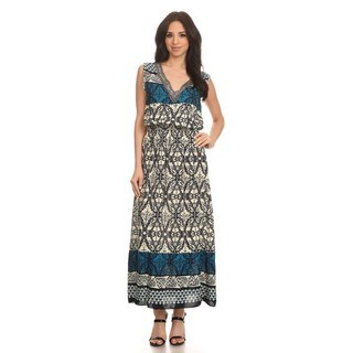 High Secret Women's Sleeveless Geometric Maxi Dress
