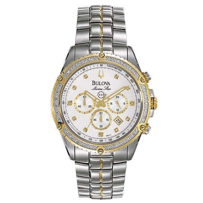 Bulova Mens Marine Star Two tone Calendar Watch