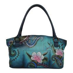 Women's ANNA by Anuschka Tote Bag 7015 Denim Paisley Floral