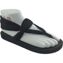 Women's Flojos Zen Sandal Black Jersey