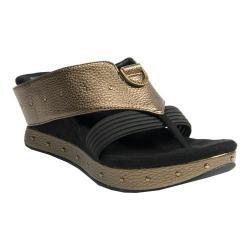 Women's MODZORI Camilla Wedge Thong Sandal Bronze/Black