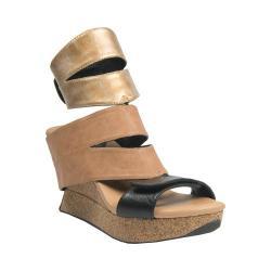 Women's MODZORI Karma Wedge T-Strap Sandal Pearl/Gold/Beige/Black