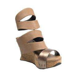 Women's MODZORI Ora Wedge T-Strap Sandal Taupe/Black