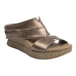 Women's MODZORI Thyra Wedge T-Strap Sandal Metallic/Taupe/Ivory