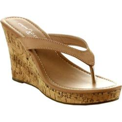 Women's Wild Diva Alicia-5-SU Natural Faux Leather