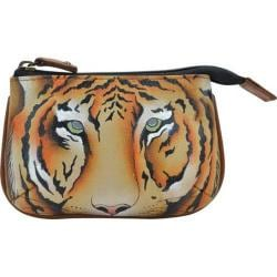 Women's Anuschka Medium Coin Purse Wild Tiger