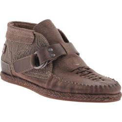 Women's OTBT Del City Taupe Grey Pownder Leather