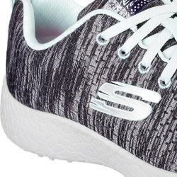 Women's Skechers Burst New Influence Athletic Shoe Black/Light Blue