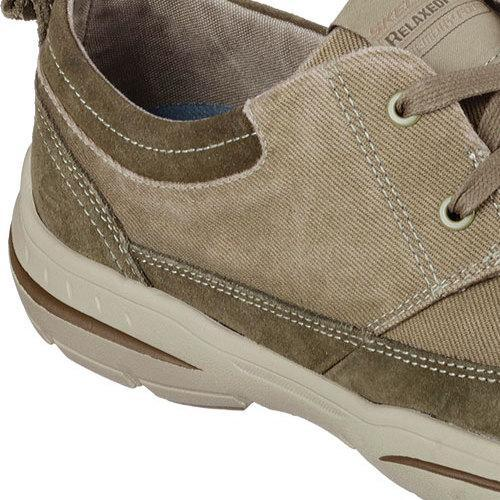 b1519bc88b4c Shop Men s Skechers Relaxed Fit Harper Lenden Oxford Khaki - Free Shipping  Today - Overstock - 11918778