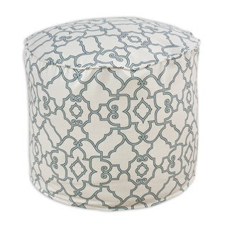 Windsor Capri Blue 20-inch Round x 17-inch High Corded Beads Hassock