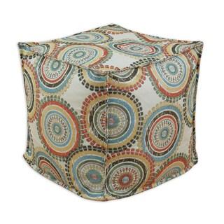 Incogneato Fiesta Multicolored Polyester 12.5-inch Square Ottoman