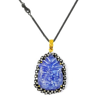 One-of-a-kind Orchid Jewelry 50.20ct Tanzanite and Diamond Pendant