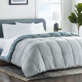LUCID Comfort Collection Reversible Bed in a Bag Complete Bedding Set - Multiple Colors