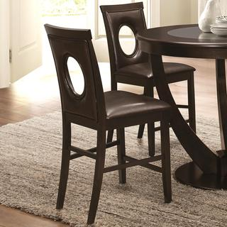 Valencia Casual Oval Back Design Counter Height Dininig Stools (Set of 2)