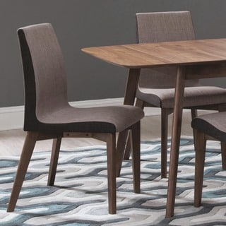 Mid-century Modern Design Grey Upholstered Dining Chairs (Set of 2)