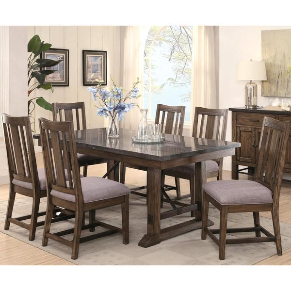 Architectural Industrial Rustic Design Dining Set With