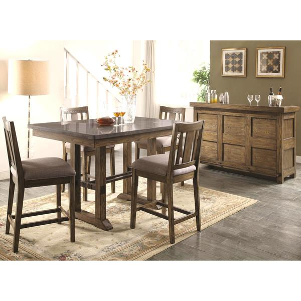 Perfect Architectural Industrial Rustic Design Counter Height Dining Set With  Laminated Natural Bluestone Top