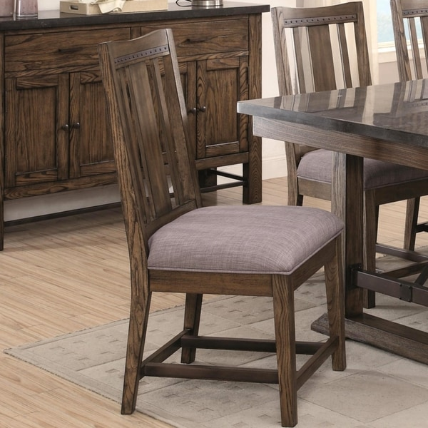 Architectural Industrial Rustic Design Dining Chairs (Set Of 2)