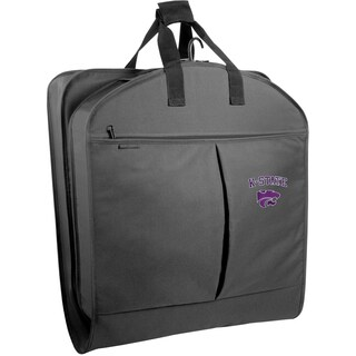 WallyBags Kansas State Wildcats Black Polyester 40-inch Garment Bag With Pockets