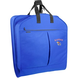 Wally Bags Kansas Jayhawks Blue Polyester 40-inch Garment Bag with Pockets
