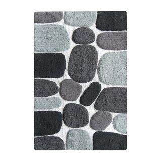 Benzara Multicolor Cotton Pebbles Mat