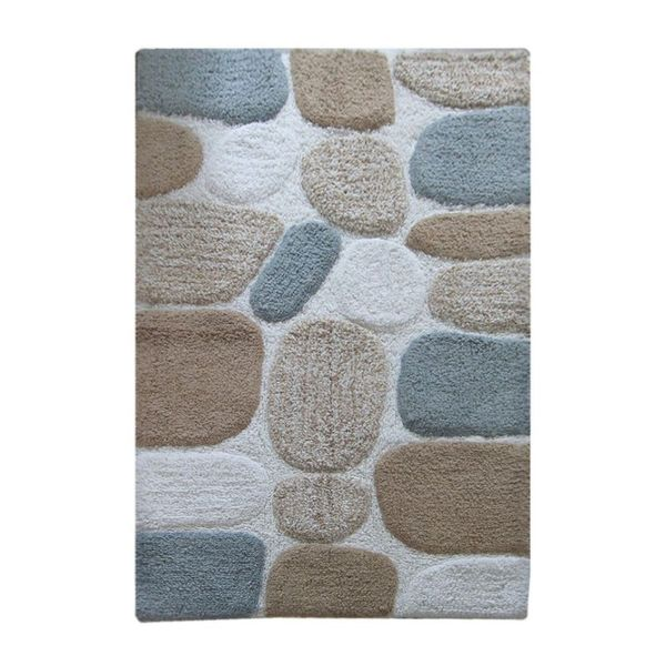 Benzara Pebbles Cotton Mat