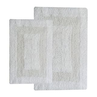 Arizona White Cotton Reversible Handwoven 2-piece Bath Set (21 x 2 x 24)