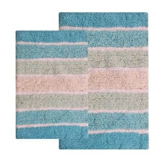 Chardin Home Cordural Multicolored Bath Rug Set (Set of 2)