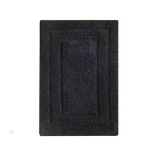 Benzara Black Cotton Hand-woven Mat