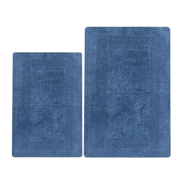 Arizona Blue Cotton Reversible 2-piece Bath Set