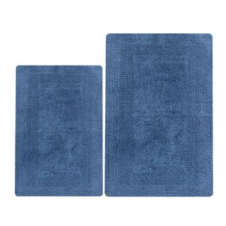 Arizona Blue Cotton Reversible 2-piece Bath Set