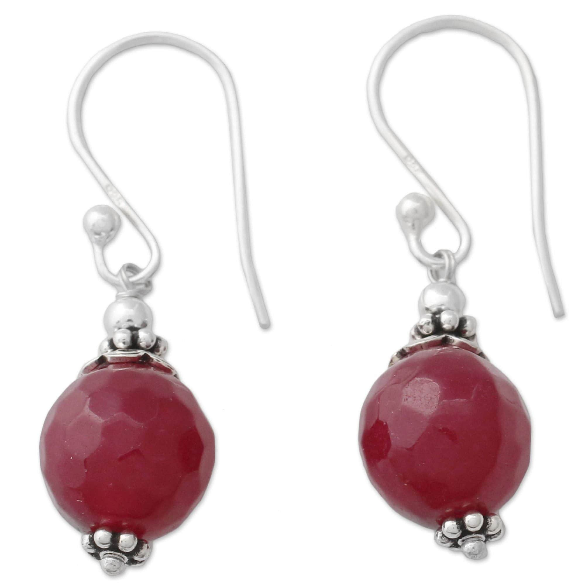Glorious Red Agate Earrings
