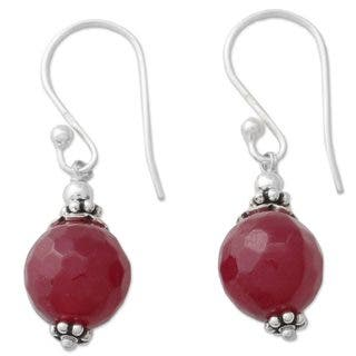 Handmade Sterling Silver 'Glorious Red' Agate Earrings (India)|https://ak1.ostkcdn.com/images/products/12002790/P18880796.jpg?impolicy=medium