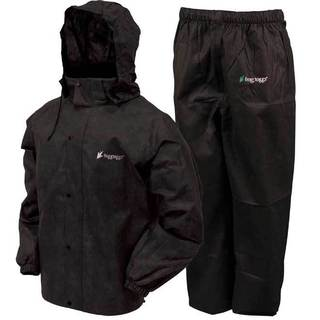 Froggs Toggs Black Waterproof All-sport Rain Suit