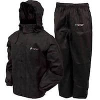 Froggs Toggs Black Waterproof All-sport Rain Suit