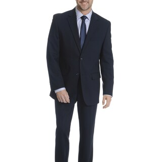 Park Row Men's Navy Classic Fit All-wool Performance Suit
