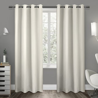 Sateen Twill Weave Insulated Blackout Window Curtain Panel (Pair) 84' in Vanilla(As Is Item)
