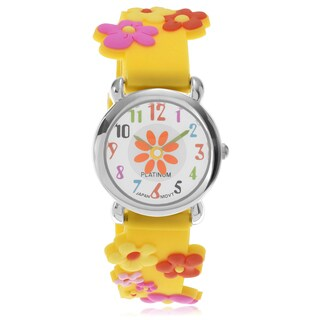 Geneva Platinum Children's Flower Strap Watch