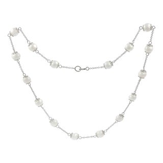 Journee Collection Sterling Silver Freshwater Pearl Necklace