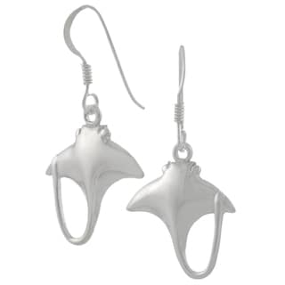 Journee Collection Sterling Silver Stingray Dangle Earrings